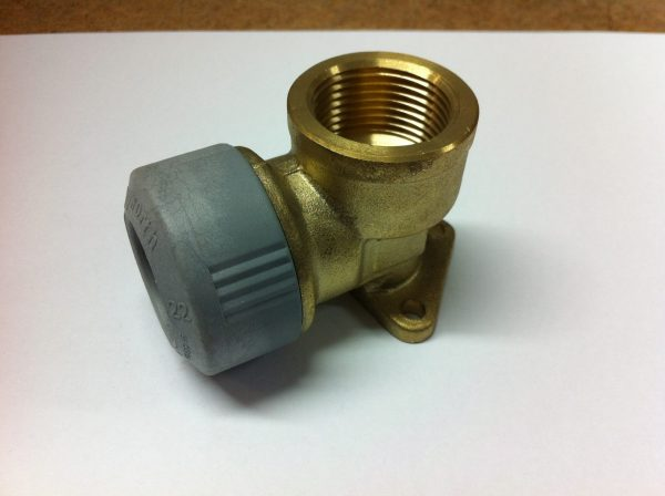 Hep2O Polybutylene to Brass Female Wall Elbow