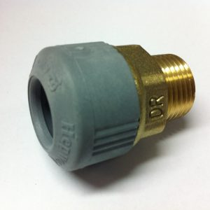 Hep2O Polybutylene / Brass Male Adapter