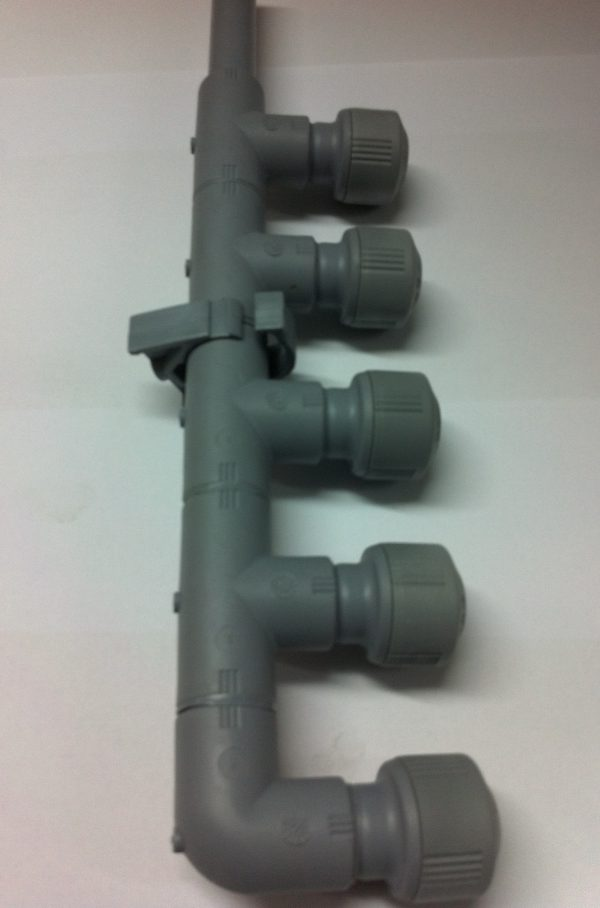 Hep2O 4 port manifold with open end 1
